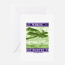 1922 Morocco Airmail Biplane Postage Stamp Greetin