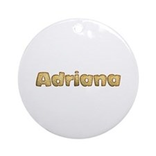 Adriana Toasted Round Ornament