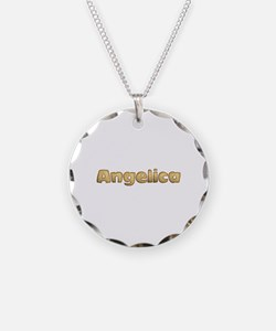Angelica Toasted Necklace Circle Charm