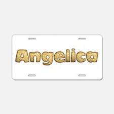 Angelica Toasted Aluminum License Plate