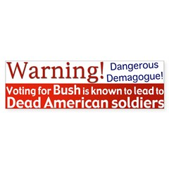 Warning: Dead Americans Bumpersticker