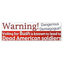 Warning: Dead Americans Bumpersticker