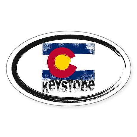 Keystone Grunge Flag Sticker (Oval)