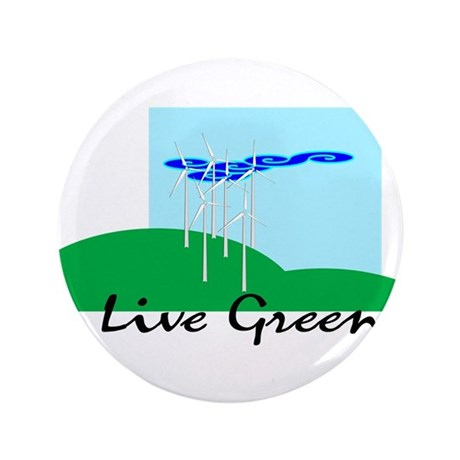 "Live Green! 3.5"" Button"