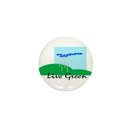 Live Green! Mini Button