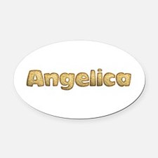 Angelica Toasted Oval Car Magnet