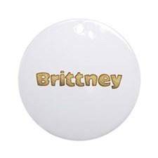 Brittney Toasted Round Ornament