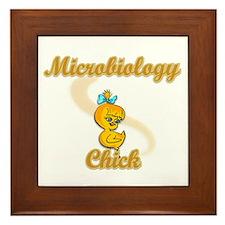 Microbiology Chick #2 Framed Tile