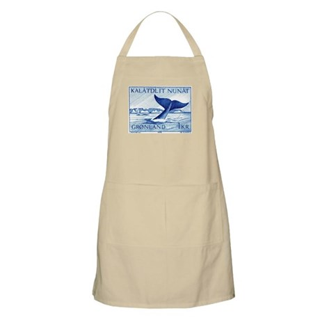 1970 Greenland Whale Tail Postage Stamp Apron