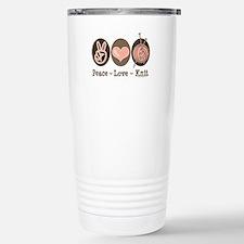 Unique Peace love knitting Travel Mug