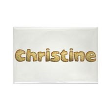 Christine Toasted Rectangle Magnet