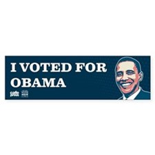 Voted for Obama Bumper Sticker