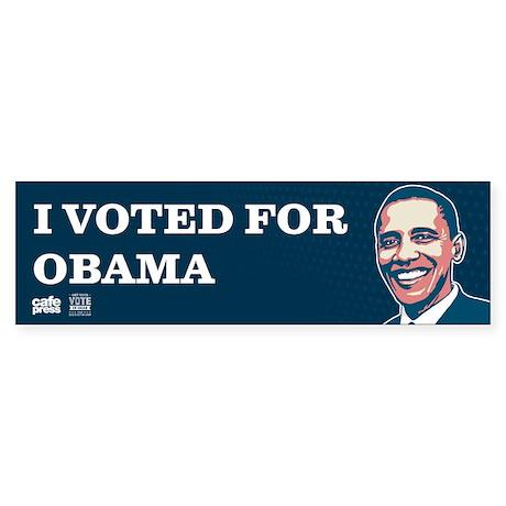 Voted for Obama Sticker (Bumper)