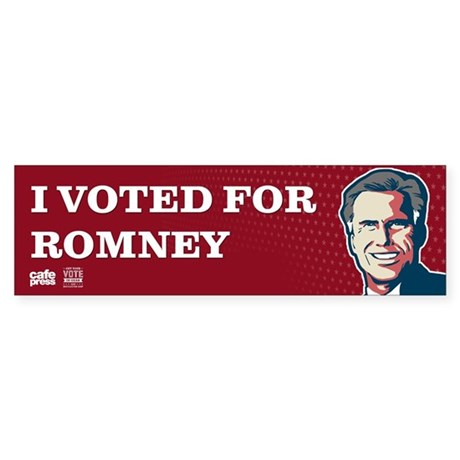 Voted for Romney Sticker (Bumper)
