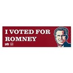 Voted for Romney Sticker (Bumper)