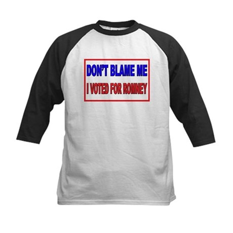Don't Blame Me Anti Obama Kids Baseball Jersey