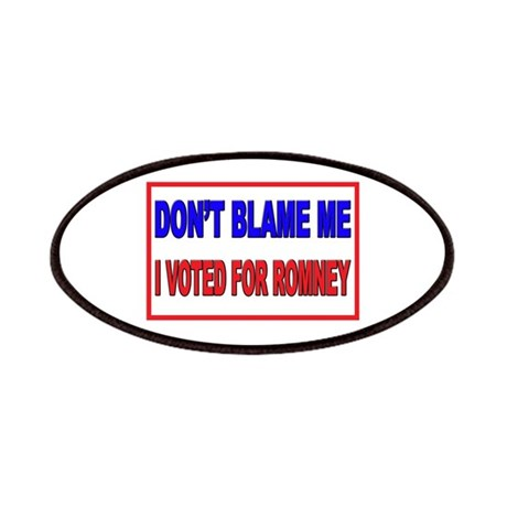 Don't Blame Me Anti Obama Patches