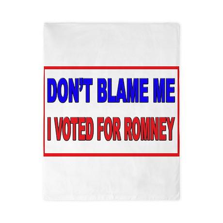 Don't Blame Me Anti Obama Twin Duvet