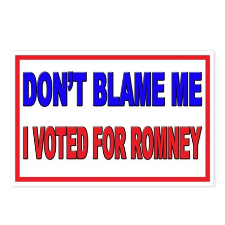 Don't Blame Me Anti Obama Postcards (Package of 8)