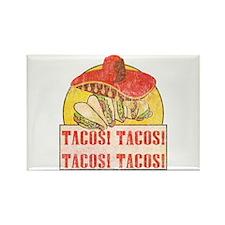 Reno Tacos (Retro Wash) Rectangle Magnet