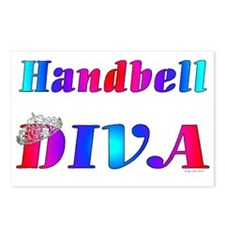 Handbell Diva Postcards (Package of 8)