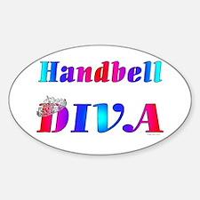 Handbell Diva Oval Decal