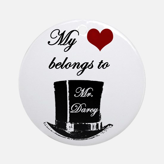 Mr. Darcy Heart Ornament (Round)