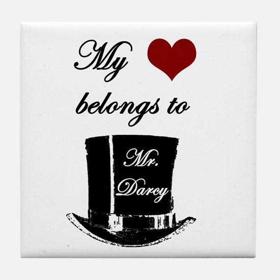 Mr. Darcy Heart Tile Coaster