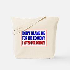 Don't Blame Me Anti Obama Tote Bag