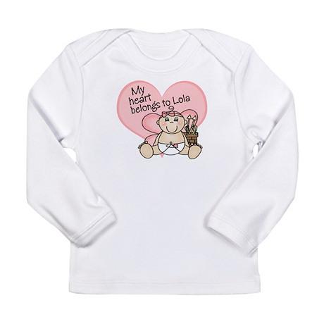 valentine heart belongs to lola Long Sleeve T-Shir