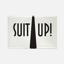 Suit Up! Rectangle Magnet