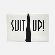 Suit Up! Rectangle Magnet