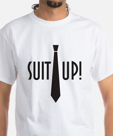 Suit Up! White T-Shirt