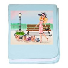 A day at the Derby baby blanket