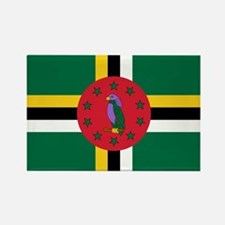 Flag of Dominica Rectangle Magnet
