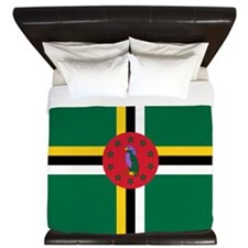 Flag of Dominica King Duvet