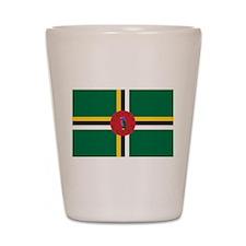 Flag of Dominica Shot Glass