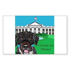 I barack for Obama! Decal