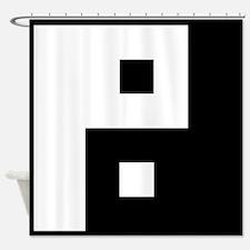 Square Yin Yang Shower Curtain