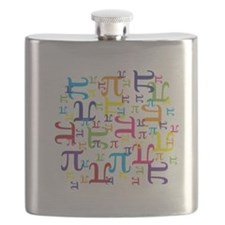 Pieces of Pi Flask