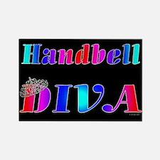 Handbell Diva Black Rectangle Magnet