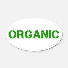 ORGANIC Oval Car Magnet
