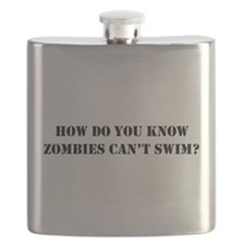 Swimming Zombies Flask