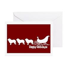 "Au Shepherd ""Sleigh"" Greeting Card (Pk of 10)"