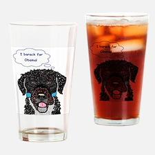 I barack for Obama Drinking Glass