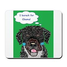 I barack for Obama 2012! Mousepad