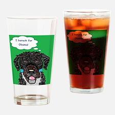 I barack for Obama 2012! Drinking Glass