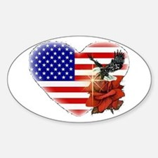 Eagle and the Rose Oval Decal