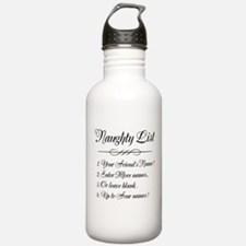 Personalized Naughty List Water Bottle