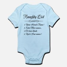 Personalized Naughty List Infant Bodysuit